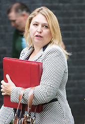 Downing Street, London, September 9th 2016.  Secretary of State for Culture, Media and Sport Karen Bradley arrives at Downing street for the weekly cabinet meeting following the Parliamentary summer recess.