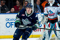 KELOWNA, BC - MARCH 6: Conner Roulette #34 of the Seattle Thunderbirds skates against the Kelowna Rockets at Prospera Place on March 6, 2020 in Kelowna, Canada. (Photo by Marissa Baecker/Shoot the Breeze)