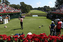 September 20, 2018 - Atlanta, Georgia, United States - Tiger Woods tees off the first hole during the first round of the 2018 TOUR Championship. (Credit Image: © Debby Wong/ZUMA Wire)