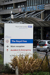 © London News Pictures. 24/08/2014. London, UK. General view of the Royal Free Hospital in North London where a British man who has contracted the Ebola virus is expected to be treated. The British healthcare worker who contracted the virus while working in in Sierra Leone is  being flown back to the UK on an RAF jet through RAF Northolt base. Photo credit : Ben Cawthra/LNP