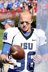 22 October 2011: Tanner Fritschle during an NCAA football game  the Indiana State Sycamores lost to the Illinois State Redbirds (ISU) 17-14 at Hancock Stadium in Normal Illinois.
