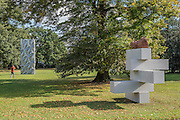 Jose Dávila, Joint Effort, 2016, Travesia Cuatro Gallery - The Frieze Sculpture Park 2016 comprises 19 large-scale works, set in the English Gardens between Frieze Masters and Frieze London. Selected by Clare Lilley (Yorkshire Sculpture Park), the Frieze Sculpture Park will feature 19 major artists including Conrad Shawcross, Claus Oldenburg, Nairy Baghramian,Ed Herring, Goshka Macuga and Lynn Chadwick. The installations will remain on view until 8 January 2017.