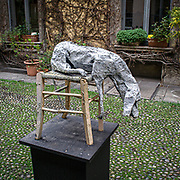 Eventi del Fuorisalone nelle strade di Milano, in occasine del Salone Internazionale del Mobile.<br /> Una scultura in un cortile di Corso Garibaldi <br /> <br /> The events of Fuorisalone around the city during the Furniture International Show in Milan. A sculpture in a courtyard of Corso Garibaldi