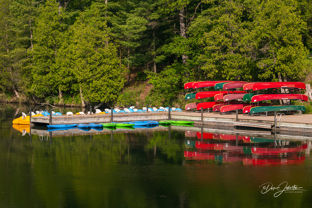 Boats for rent on the Ausable Channel, Pinery Provincial Park, Grand Bend,, Ontario, Canada