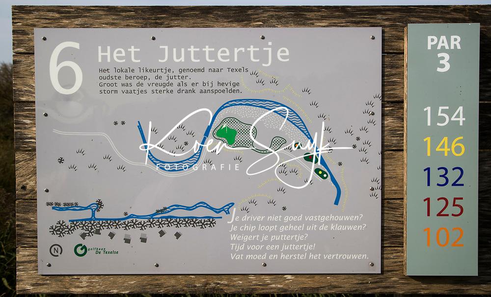 TEXEL - Hole 6 holebord. De Cocksdorp.  - Golfbaan De Texelse. COPYRIGHT KOEN SUYK