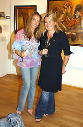 Left to right, LISA DAVIES and KIRSTY MURDOCH at an exhibition of art by Sam Sopwith held at 27 Cork Street, London W1 on 23rd May 2006.<br /><br />NON EXCLUSIVE - WORLD RIGHTS
