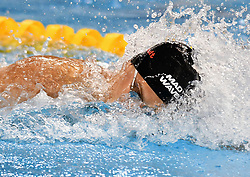 Vladimir Morozov of Russia compete in the Men's 100m Freestyle Final of FINA/airweave Swimming World Cup Doha 2017 at the Hamad Aquatic Centre in Doha , capital of Qatar on October. 04, 2017. Vladimir Morozov claimed the title with 49.92 seconds. (Xinhua/Nikku (Credit Image: © Nikku/Xinhua via ZUMA Wire)