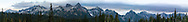 The Tatoosh Range from Paradise in Mount Rainier National Park, Washington State, USA.  Peaks (from L to R) are Stevens, Unicorn, Pinnacle, Plummer, Denman, Lane, Wahpenayo, Chutla, and Eagle Peak.