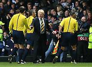 Gordon Strachan manager of Scotland shakes hands with the officials  - UEFA Euro 2016 Qualifier - Scotland vs Republic of Ireland - Celtic Park Stadium - Glasgow - Scotland - 14th November 2014  - Picture Simon Bellis/Sportimage