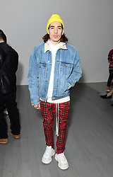 Hector Bellerin on the front row during the Alex Mullins London Fashion Week Men's AW18 show held at BFC Show Space, London.