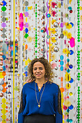 'Rio Azul' by Beatriz Milhazes (pictured with Marilola, 2010-15) at White Cube Bermondsey. Her first solo show in London for almost a decade features new paintings, installation, sculpture, collage and live performance, as well as her first ever tapestry.