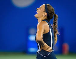 September 26, 2018 - Monica Puig of Puerto Rico celebrates winning her third-round match at the 2018 Dongfeng Motor Wuhan Open WTA Premier 5 tennis tournament (Credit Image: © AFP7 via ZUMA Wire)