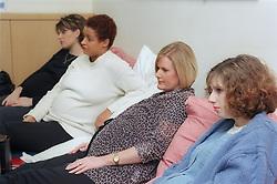 Pregnant women at antenatal class,
