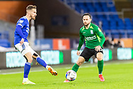 Cardiff City's Joe Bennet (3) in action during the EFL Sky Bet Championship match between Cardiff City and Birmingham City at the Cardiff City Stadium, Cardiff, Wales on 16 December 2020.