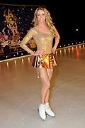 Perspresentatie Sterren Dansen op het IJs 2011 op de oefenbaan van Holiday on Ice.<br /> <br /> op de foto:<br /> <br />  Inge de Bruijn