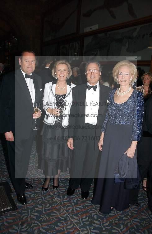Left to right, MR JOHAN BECKMAN, BARON & BARONESS JEAN-LOUIS DE GUNZBURG and ELIANE DE GUNZBURG BECKMAN Lady in Waiting to The Queen of Sweden at a gala dinner in the presence of HM Quenn Silvia of Sweden and HM Queen Noor of Jordan in aid of the charity Mentor held at the Natural History Museum, Cromwell Road, London on 23rd May 2006.<br /><br />NON EXCLUSIVE - WORLD RIGHTS