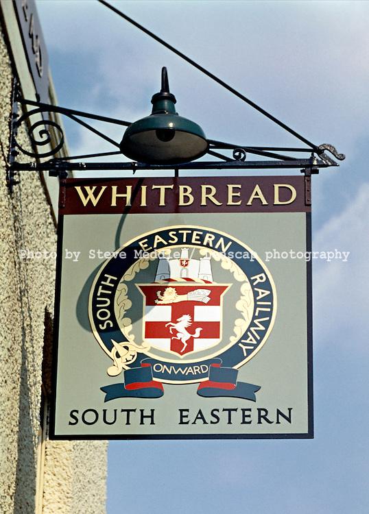 Pub Signs, The South Eastern,  Tonbridge, Kent, Britain