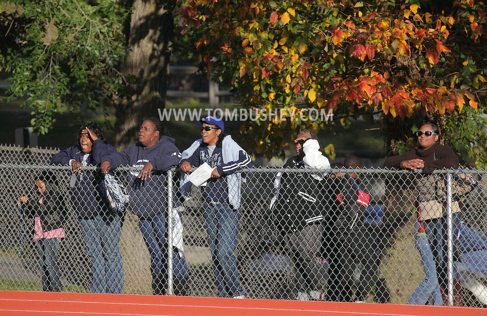 Beacon, New York - Spectators watch a high school football game on Saturday, Oct. 10, 2009.