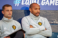 Thierry Henry, assistant coach of Belgium before the International Friendly match between Scotland and Belgium at Hampden Park, Glasgow, United Kingdom on 7 September 2018.