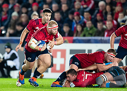 James Cronin of Munster <br /> <br /> Photographer Simon King/Replay Images<br /> <br /> European Rugby Champions Cup Round 1 - Ospreys v Munster - Saturday 16th November 2019 - Liberty Stadium - Swansea<br /> <br /> World Copyright © Replay Images . All rights reserved. info@replayimages.co.uk - http://replayimages.co.uk