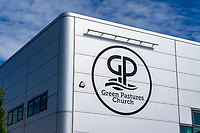 Green Pastures Church, Galgorm, Ballymena, N Ireland, UK, signage, 201909131492<br />