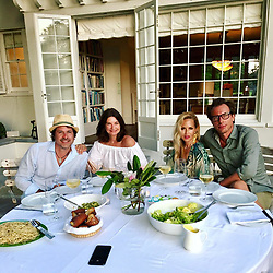 """Rachel Zoe releases a photo on Instagram with the following caption: """"Sunday night supper with \ud83d\udc95 @nat_mass @eriktorstensson #grateful #friendsthatarefamily #summer2017 \ud83c\udf77\ud83c\udf5dXoRZ"""". Photo Credit: Instagram *** No USA Distribution *** For Editorial Use Only *** Not to be Published in Books or Photo Books ***  Please note: Fees charged by the agency are for the agency's services only, and do not, nor are they intended to, convey to the user any ownership of Copyright or License in the material. The agency does not claim any ownership including but not limited to Copyright or License in the attached material. By publishing this material you expressly agree to indemnify and to hold the agency and its directors, shareholders and employees harmless from any loss, claims, damages, demands, expenses (including legal fees), or any causes of action or allegation against the agency arising out of or connected in any way with publication of the material."""