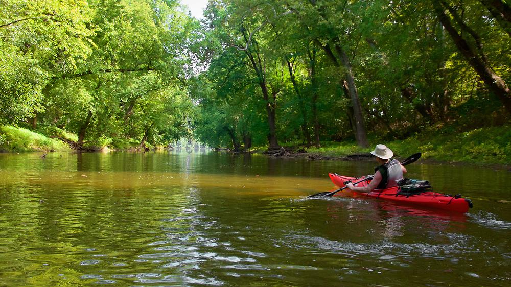 Mark paddling on Potomac River near Nolan's Ferry