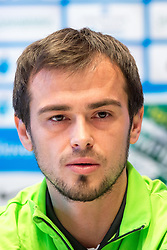 Danko Lazovic, new football player during press conference and practice session of NK Olimpija Ljubljana, on February 25, 2016 in Austria Trend Hotel, Ljubljana, Slovenia. Photo by Matic Klansek Velej / Sportida