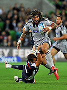 Ma'a Nonu (HUR)<br /> Melbourne Rebels v The Hurricanes<br /> Rugby Union - 2011 Super Rugby<br /> AAMI Park, Melbourne VIC Australia<br /> Friday, 25 March 2011<br /> © Sport the library / Jeff Crow