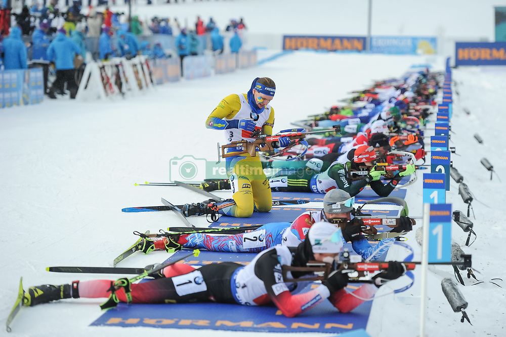 February 8, 2019 - Calgary, Alberta, Canada - Stegmayr Gabriel (SWE) is getting ready to shoot at the first shooting during Men's Relay of 7 BMW IBU World Cup Biathlon 2018-2019. Canmore, Canada, 08.02.2019 (Credit Image: © Russian Look via ZUMA Wire)