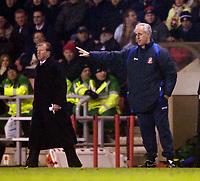 Photo: Jed Wee.<br /> Sunderland v Middlesbrough. Barclays Premiership. 31/01/2006.<br /> <br /> Sunderland manager Mick McCarthy (R) with Middlesbrough manager Steve McClaren.