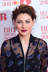 Emma Willis attending the Brit Awards 2018 Nominations event held at ITV Studios on Southbank, London.