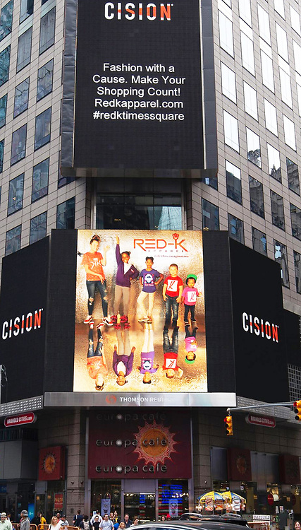 photoshoot and design courtesy of Star Nigro created for Red-K made for Red-K apparel = fashion for a cause supporting the non profit MyKingstonKids<br /> displayed in times square nyc featured in sept 2019 on display on rotation permanently <br /> <br /> MyKingstonKids.com<br /> <br /> located: 45th and Broadway above eurocafe<br /> <br /> <br /> starnigro.com