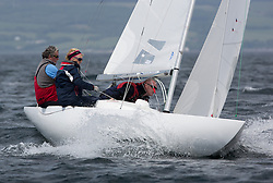 International Dragon Class Scottish Championships 2015.<br /> <br /> Day 1 racing in perfect conditions.<br /> <br /> GBR789, BEAR, Martin Payne, Salcombe YC\<br /> Credit Marc Turner