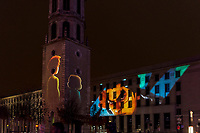 Insert Coin - Grande Poste - Clocher de la Charité, Lyon 2<br /> Artist: Mr.Beam<br /> TheFestival of Lights inLyon,Franceexpresses gratitude towardMary, mother of Jesusaround December 8th of each year.<br /> This uniquely Lyonnaise tradition dictates that every house place candles along the outsides of all the windows to produce a spectacular effect throughout the streets. The festival includes other activities based on light and usually lasts four days, with the peak of activity occurring on the 8th. <br /> The two main focal points of activity are typically theBasilica of Fourvierewhich is lit up in different colours, and thePlace des Terreaux, which hosts a different light show each year.<br /> Spared from plague<br /> The origins of the festival date to 1643 when Lyon was struck byplague. <br /> On September 8,1643 the municipal councillors promised to pay tribute to Mary if the town was spared. Ever since, a solemn procession makes its way to the Basilica of Fourviere on 8 December (the feast of theImmaculate Conception) to light candles and give offerings in the name of Mary. <br /> In part, the event thus commemorates the day Lyon was consecrated to the Virgin Mary.