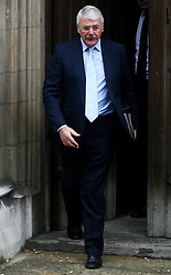 © Licensed to London News Pictures. 12/06/2012. London,Britain.Former Prime Minister, Sir John Majorand leaves the Leveson Inquiry in the Royal Courts of Justice. Photo credit : Thomas Campean/LNP..