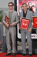 5/5/2007 Brad Pitt and George Clooney's hand/footprint ceremony at the Chinese Theater