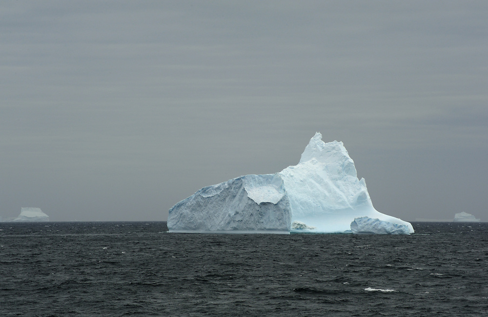 A iceberg in the sea west of Coronation Island.  South Orkney Islands. Antarctica. 28Feb16