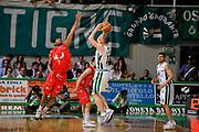 DESCRIZIONE : Siena Lega A 2008-09 Playoff Finale Gara 2 Montepaschi Siena Armani Jeans Milano<br /> GIOCATORE : Rimantas Kaukenas<br /> SQUADRA : Montepaschi Siena<br /> EVENTO : Campionato Lega A 2008-2009 <br /> GARA : Montepaschi Siena Armani Jeans Milano<br /> DATA : 12/06/2009<br /> CATEGORIA : three points <br /> SPORT : Pallacanestro <br /> AUTORE : Agenzia Ciamillo-Castoria/G.Ciamillo