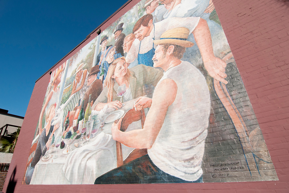 A beautiful wall mural at the parking lot beside Poogan's Porch at 72 Queen Street in Charleston, South Carolina on Wednesday, March 7, 2018. Copyright 2018 Jason Barnette