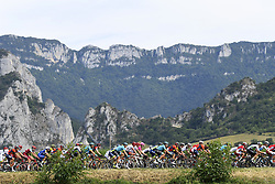 July 20, 2018 - Valence, France - VALENCE, FRANCE - JULY 20 : Illustration picture of the peloton during stage 13 of the 105th edition of the 2018 Tour de France cycling race, a stage of 169.5 kms between Bourg d'Oisans and Valence on July 20, 2018 in Valence, France, 20/07/2018 (Credit Image: © Panoramic via ZUMA Press)