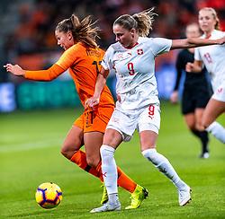 09-11-2018 NED: UEFA WC play-off final Netherlands - Switzerland, Utrecht<br /> European qualifying for the 2019 FIFA Women's World Cup - Lieke Martens #11 of Netherlands, Ana-Maria Crnogorcevic #9 of Switzerland