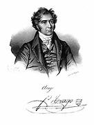 Dominique Francois Jean Arago (1786-1853) French astronomer, physicist and politician. Lithograph published Paris c1820