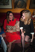VASSI CHAMBERLAIN; CAMILLA LONG, Launch of book by Nicholas Coleridge.- The Adventuress. Annabels. Berkeley Sq. London. 9 October 2012.