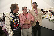 Lord March, George Lucas and Arnaud Bamberger, Cartier Style et Luxe champagne reception and lunch at the  the Goodwood festival of Speed. 9 July 2006. -DO NOT ARCHIVE-© Copyright Photograph by Dafydd Jones 66 Stockwell Park Rd. London SW9 0DA Tel 020 7733 0108 www.dafjones.com