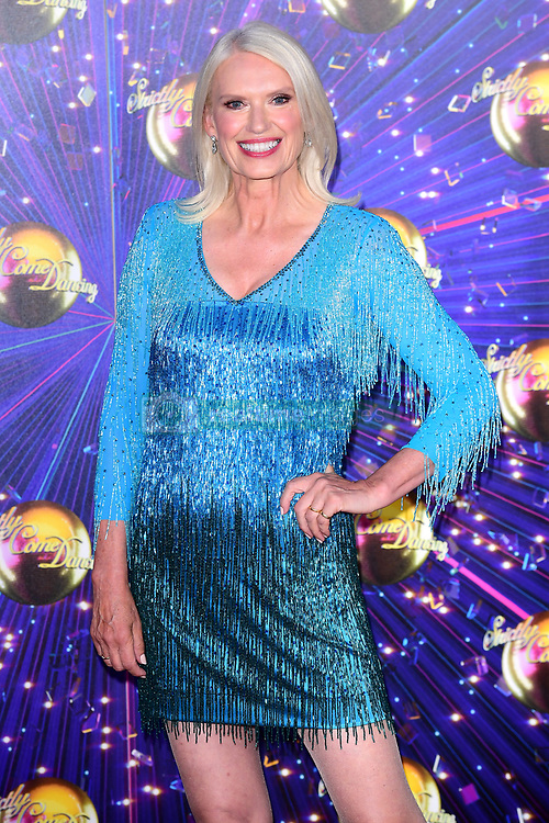 Anneka Rice arriving at the red carpet launch of Strictly Come Dancing 2019, held at BBC TV Centre in London, UK.