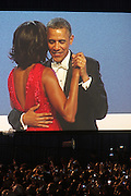 January 21, 2013-Washington, DC- President Barack Obama and First Lady Michelle Obama attend the Official 2013 White House Inaugural Ball held at the Washington Convention Center on January 21, 2013 in Washington, D.C. The 57th Presidential Inauguration celebrates the beginning of the second term of President Barack H. Obama. (Terrence Jennings)