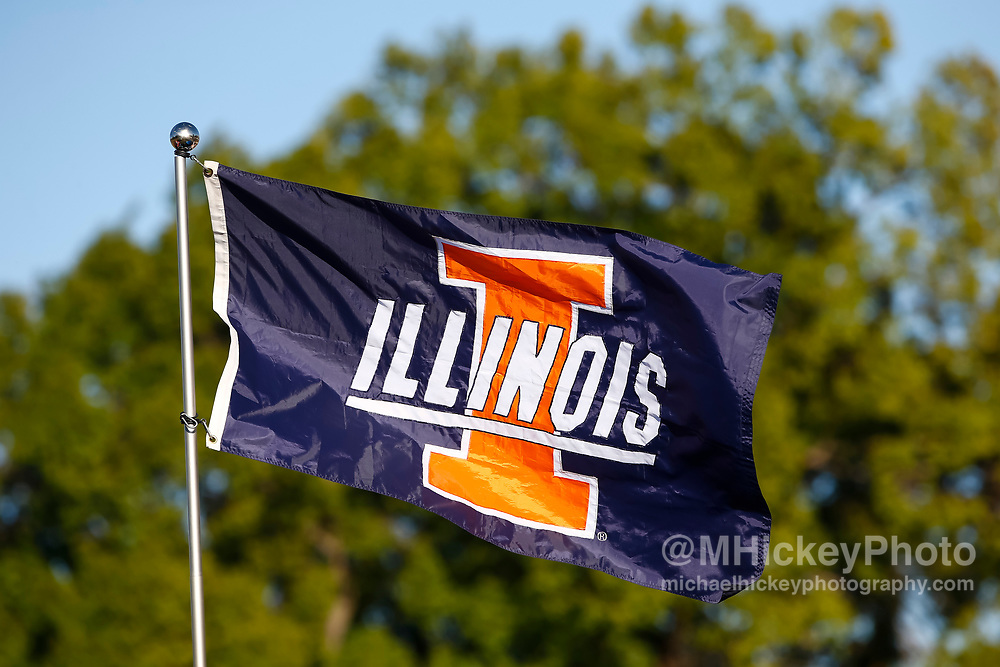 CHAMPAIGN, IL - SEPTEMBER 29: An Illinois Fighting Illini flag is seen in the tailgating lot before the game against the Nebraska Cornhuskers at Memorial Stadium on September 29, 2017 in Champaign, Illinois. (Photo by Michael Hickey/Getty Images)