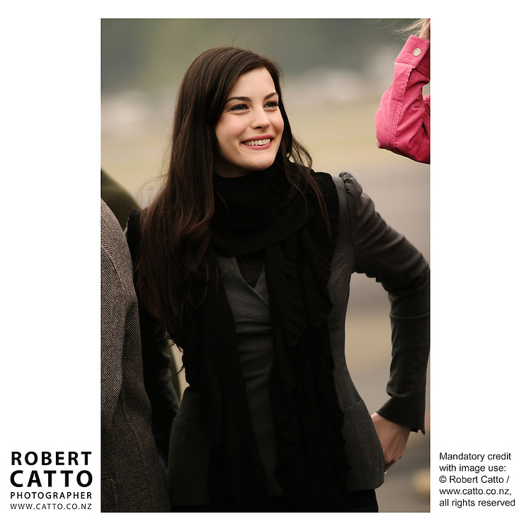 Liv Tyler and the cast depart Wellington after the World Premiere of The Lord Of The Rings: Return Of The King  at Wellington Airport, Wellington, New Zealand.