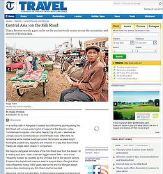 Telegraph Travel; Donkey trap drivers in Kashgar China